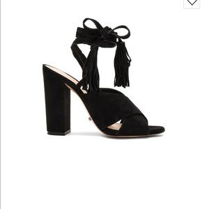 Schutz Damila Wraparound Tassel Sandal
